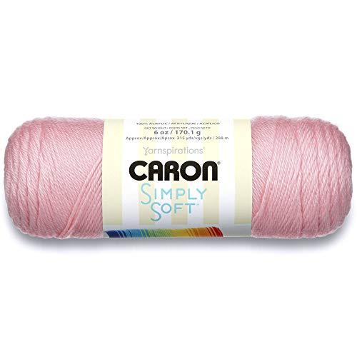 Caron Pelote de laine douce, 170 g/Pelote de 28 m, 6 oz, Rose