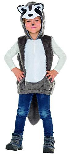 nder Kostüm Größe 116 Unisex Karneval Fasching Racoon Tierkostüm ()