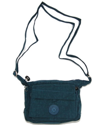 RabamtaGO Collection® Borsa Messenger nero nero 17 x 15 x 7 cm 170 Gramm blau
