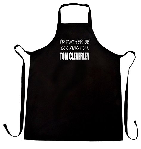 I'd rather be cooking for Tom Cleverley apron, wrapping and gift message service available