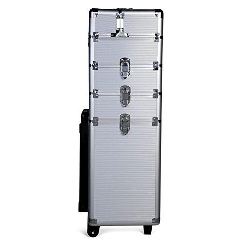 Generic * * Font de beauté Cosmétique KE Box Vanity IC Box Tech Chariot de Rangement Grande ASE à Ongles Tec Argent étui de Rangement de Maquillage à Ongles