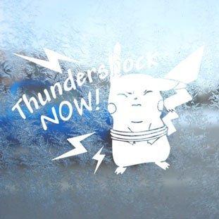Aufkleber / Autoaufkleber / Sticker / Decal Pokemon Pikachu Thundershock Now Psp Ds White Decal Game White Sticker (Psp Pokemon)