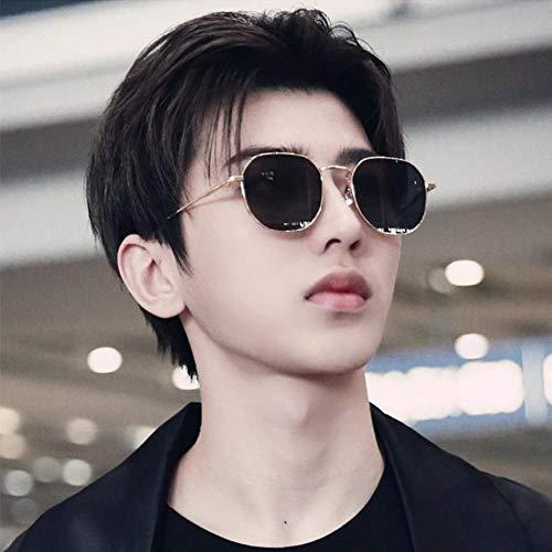 Polarisierten Spiegel weiblichen koreanischen Version des Gezeiten-Netzwerks rot mit der Straße schießen kleines Gesicht Modelle Hong Kong Stil Sonnenbrille rundes Gesicht männlich neue Sonnenbrill