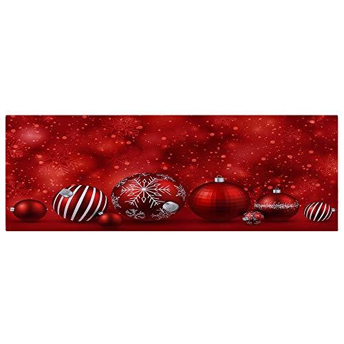 Schmutzfangmatte Fussmatte Draussen 40x120CM,Merry Christmas Welcome Fußmatten Indoor Home Teppiche Dekor FußMatte Innenbereich Fussmatten HaustüR Weihnachten (G, 40x120CM)