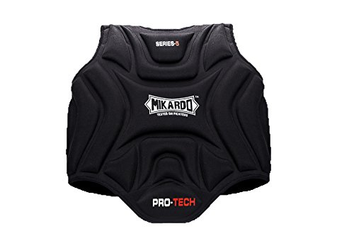 Mikardo Pro Tech Series 5 Kampfsport MMA Muay Thai Kickboxen Boxen Brust Body Guard Rib Shield Protector, S/M -