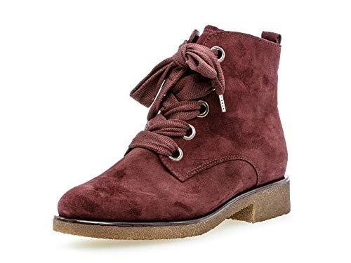Gabor Donna Stivaletti 32.705, Signora Stivali,Chukka Boot,Desert Boot,Half Boots,tivali,Stivaletti Stringate, Amarena (Micro),37.5 EU / 4.5 UK