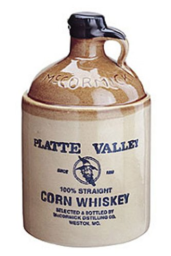 PLATTE VALLEY 100% STRAIGHT CORN WHISKEY CL.70