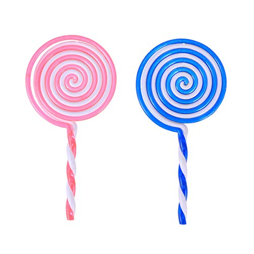 BESTOYARD 2 stücke Lollipop Prop Cosplay Clown Dress up Lollipop Candy verschönerung DIY regenbogenfarbe Lolly Handwerk (zufällige Farbe) Candy Dress Up