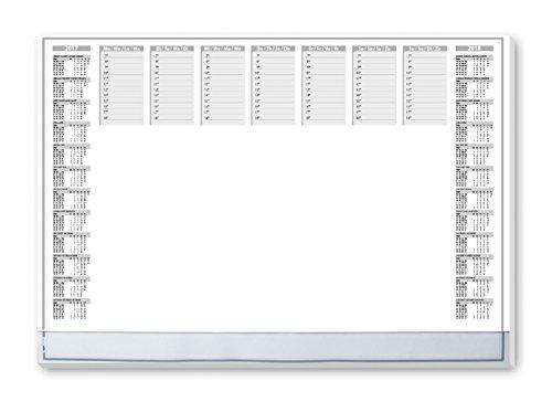 Preisvergleich Produktbild Sigel HO366 Papier-Schreibunterlage mit transparenter Schutzleiste, 2-Jahres-Kalender, ca. DIN A2, 40 Blatt