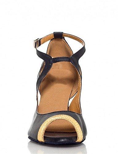 ShangYi Chaussures de danse(Multicolore / Autre) -Personnalisables-Talon Personnalisé-Similicuir-Latine / Jazz / Salsa / Samba / Chaussures de black and red
