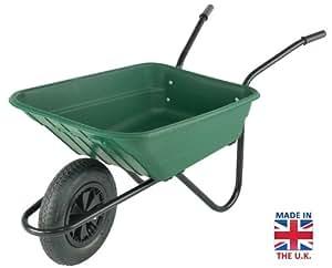 Lamboro Bistro Mucker Brouette de jardin avec pneus en caoutchouc Vert