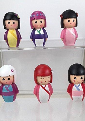 Regency Juego de 6 muñecas japonesas en miniatura