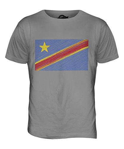 CandyMix Demokratische Republik Kongo Kritzelte Flagge Herren T Shirt Hellgrau