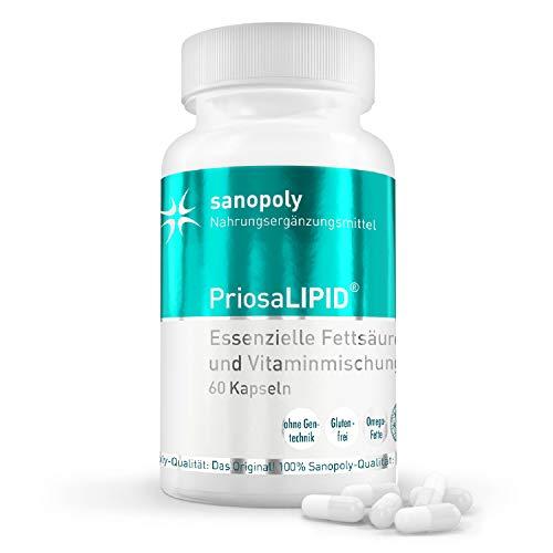 SANOPOLY PriosaLIPID 60 Kapseln I Stärkung des Herz-Kreislauf-Systems I Mit Omega-3 & Omega-6 Fettsäuren, Vitamin A + D + E + K2 & rare Ölen I Alle wichtigen Fettsäuren I Geprüfte Qualität & Wirkung