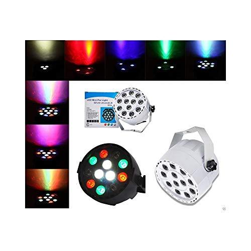 tradeshoptraesio®-Strahler Lampe Effekt Licht DMX 512Flat Par Light RGBW 12LED 30W -