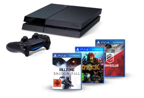 PlayStation 4 - Konsole inkl. Killzone: Shadow Fall, Knack und DriveClub