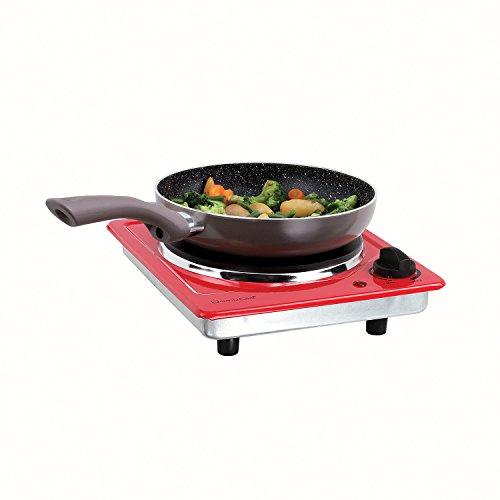 DomoClip DOC167R Plaque de cuisson électrique Rouge