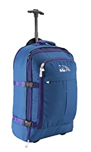 Cabin Max Malmo Multi-Function Expandable Trolley Backpack Laptop Bag 55x40x20cm 44litres (Blue/Purple)