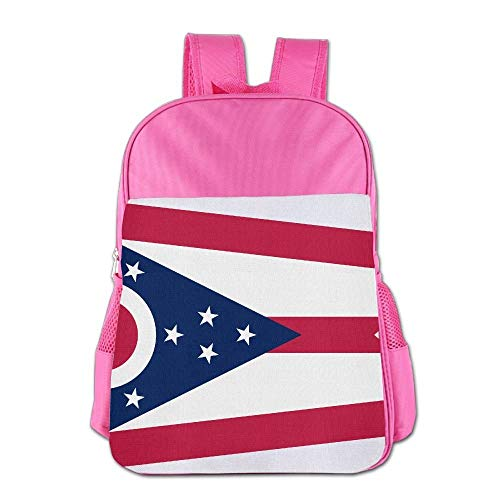 htrewtregregre Flag Of Ohio State Schule Backpack Kinder Shoulder Daypack Kid Lunch Tote Taschen Pink - State-geschenk-tasche Ohio