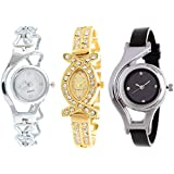 Watch City Analogue Women's Watch (Multicolour Dial Multicolour Strap) (Pack of 3)