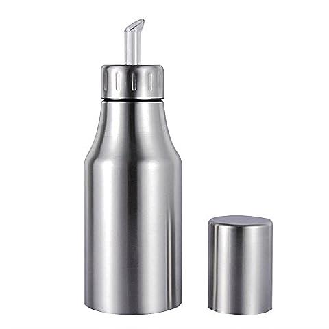 500ml Edelstahl Öl Flasche, staubfrei, Lecksicher Tropfen Spender Öl Pot Essbar Sauce Öl Flasche, edelstahl, silber, 500 ml