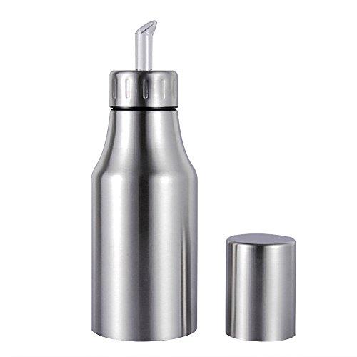 500ml Edelstahl Öl Flasche, staubfrei, Lecksicher Tropfen Spender Öl Pot Essbar Sauce Öl Flasche, edelstahl, silber, 1000 ml