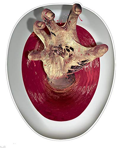 """Toiletten Monster WC ZOMBIE - der Halloween und Horror Extraschocker für\'s stille Örtchen - Party Hammer und Grusel Deko Sensation XXL Aufkleber für den Klodeckel mutierte Horror Klaue greift aus Toilette super plastischer Look in Sekunden angebracht und \""""ready to shock\"""" für die \""""Schüssel des Grauens\"""" das perfekte WC Gadget"""