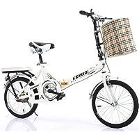 QINYUP 20 Pouces vélo Pliant Femmes est léger Travail Adulte Adulte Ultra léger à Vitesse Variable Portable Adulte Petit…