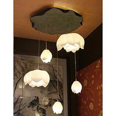 luz-colgante-moderna-5-luces-de-loto-blanco-color-de-la-hoja-de-metal-y-resina-polvo-de-piedra-220-2
