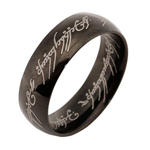 Lufa anelli d'acciaio di titanio dell'anello stampato delle lettere dell'uomo delle 6 millimetri che gira i monili unisex