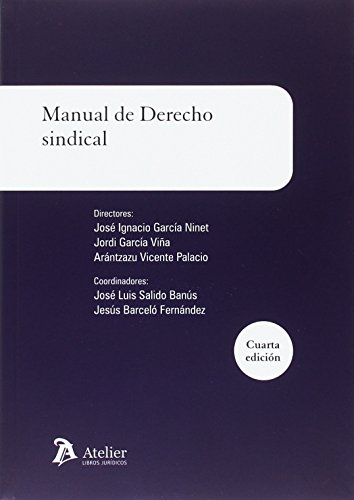 Manual de derecho sindical: 4ª edicion