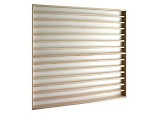 V86- Vitrine murale 90 cm x 84 cm x 6 cm collection miniature collecteur affichage pion petit article vitres en plexiglas clair meuble rangement étagère armoire bois nature