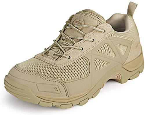 FREE SOLDIER Tactical Desierto Zapatos Rápido Antideslizante Camping Senderismo Montaña Todo Terreno Off-Road Zapatos (Sand Color, 41)