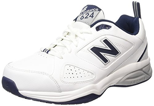 New Balance MX624WN4, Multi-Sports - Intérieur Homme - Blanc - Blanc, 46.5 EU (11.5 UK)