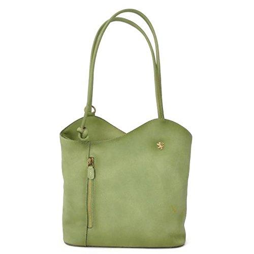 Pratesi Consuma borsa in vera pelle - B465 Bruce (Viola) Verde chiaro
