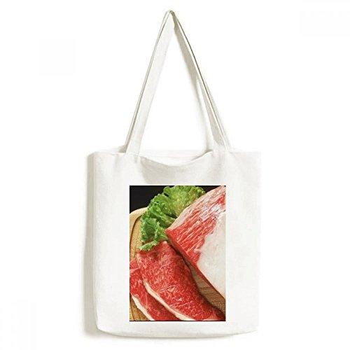 DIYthinker Lammkeule rohes Fleisch Essen Textur Environmentally-Tasche Einkaufstasche Kunst Waschbar...