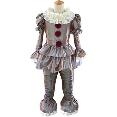 HRDavid IT Pennywise Halloween Clown Cosplay Kost¨¹m Ultimate Silber XXXL