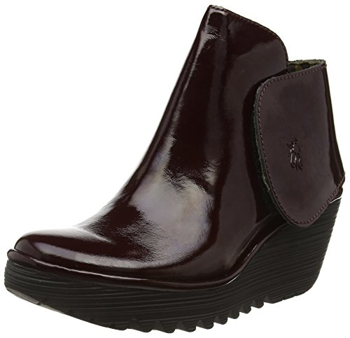 FLY London  Yogi, Bottes Classics courtes, doublure froide femme Rouge (Burgundy 065)