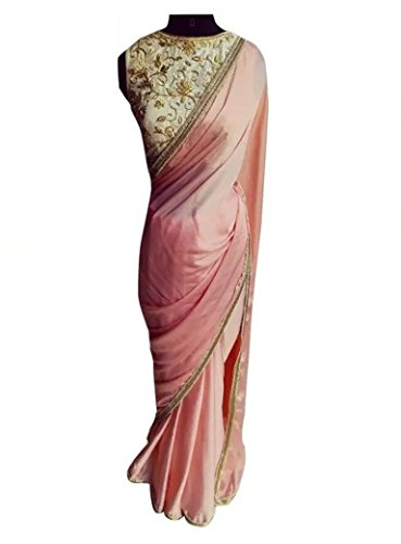 Sarees World Women's Clothing Sarees (Julie Pink)