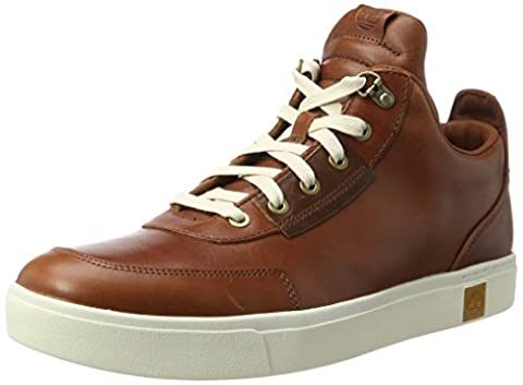 Timberland Mens Amherst High Top Chukka Brown Leather Shoes 8 UK