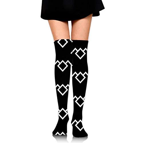 suzhouxiu Twin Peaks Owl Petroglyph Womens Knee High Socks Long Socks Sport Socks Thin for Running,Medical,Athletic,Travel (Männer Owl Hat)