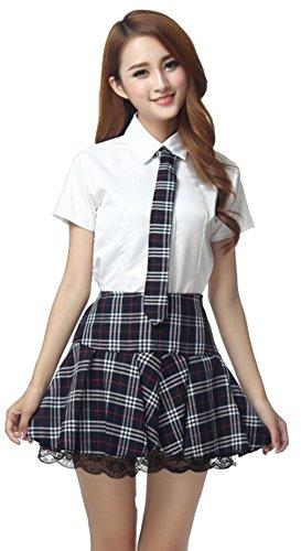 Beste Mädchen Halloween Kostüm College - La vogue Damen Mädchen Schuluniform mit
