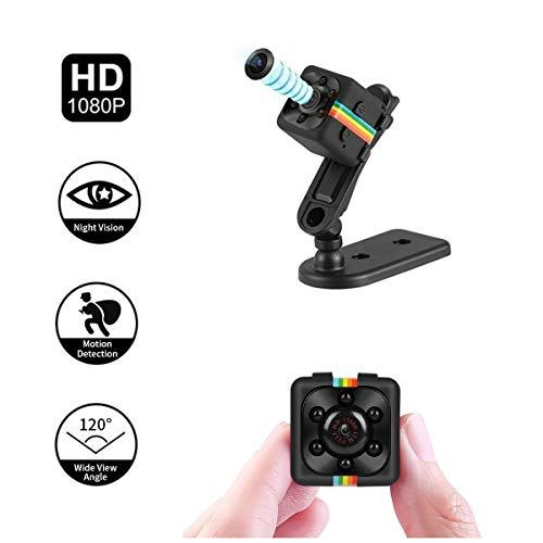 Adaym Leichte Mini Kamera, SQ11 HD 1080P Camcorder Sport Mini DV Video Recorder Spion Kameras mit Nachtsicht (Schwarz) - Vision Cam Xbox
