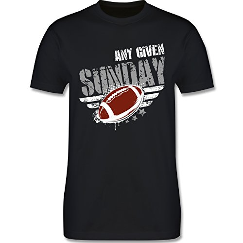 Shirtracer American Football - any Given Sunday Football - Herren T-Shirt Rundhals Schwarz