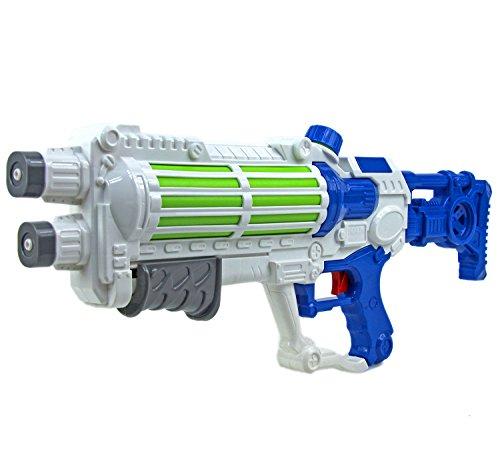 Nick and Ben Wasser-Gewehr Pistole 49 cm Spielzeug-Waffe für Kinder und Erwachsene Wasser-Spritze Water-Gun Pool-Kanone Planschbecken Zubehör (Waffen Spritzen Wasser)
