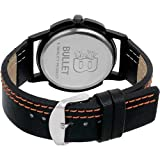Bullet BLT_17 Smooth Looks White Dial & Black Color Leather Strap Casual Analog Men's Watch
