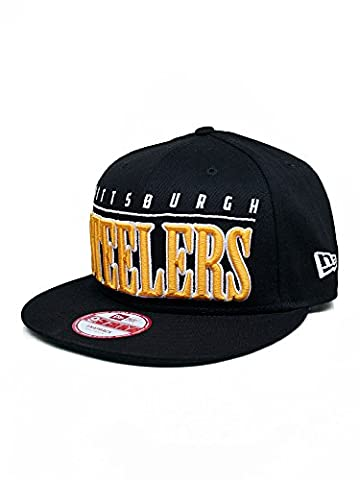 New Era NFL PITTSBURGH STEELERS Big Word 9FIFTY Snapback Cap, Größe:S/M