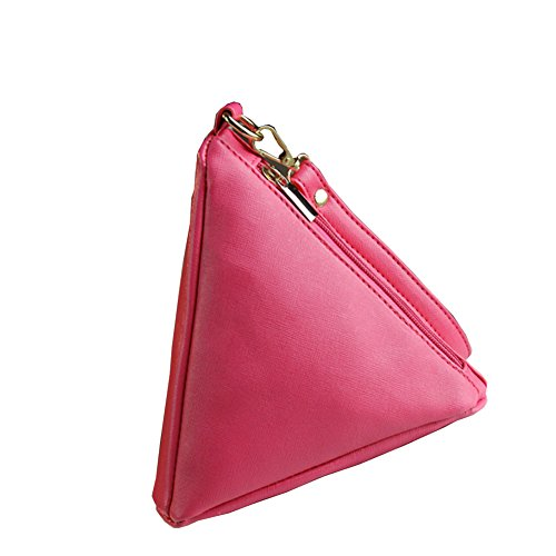Daojian Triangle Purse Zip Wallet Coin sac a main Rose paquet boulettes