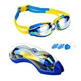 Hurdilen Kids Swim Goggles, Swim Goggles for kids Swimming Goggles with Anti-Fog UV