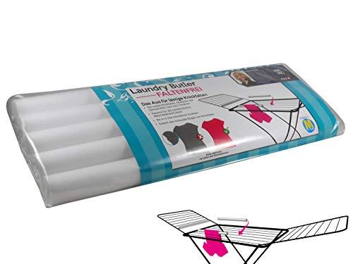 Laundry Butler Faltenfrei 5 Stück 1 x 5er Pack | Wasserabweisende PE Schaumstoff für Wäscheständer & Wäscheleine | knickfrei bügelfrei Wäsche aufhängen